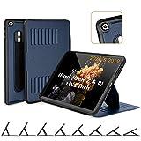 ZUGU iPad 10.2 Hülle 2020 / 2019, schlanke Schutzhülle für die iPad8 / iPad7, 8 Winkel-Ständer magnetisch Stifthalter Auto Sleep /Wake UP [Navy Blau]
