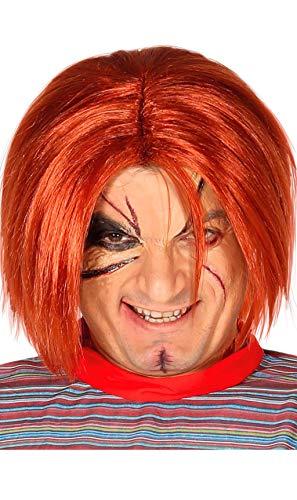 Rudy Peluca Adulto Muñeca asesina Chuckie, Color Rojo, fg4390