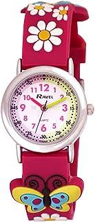 Ravel Funtime 3D Butterflies & Daisy Time Teacher Pink Strap Kids Watch R1513.50