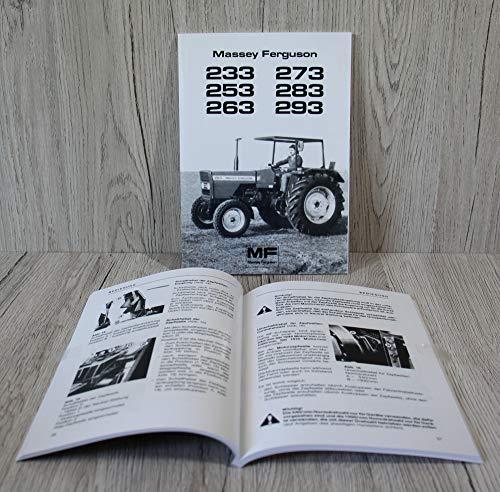 Massey Ferguson Betriebsanleitung Bedienungsanleitung Traktor MF 233 253 263 273 283 293