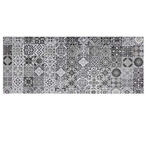 LKHF Azulejo retro negro blanco simple, azulejos de la pared del vinilo, pegatinas de la escalera pegatinas paso pegatinas pegatinas de pared vinilo azulejos