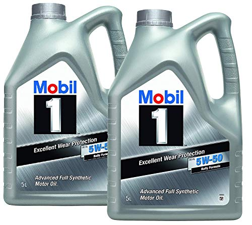 Mobil 1 Aceite Motor FS x1 5W50 - Pack 10 LTS Advanced Full Synthetic (Nueva Fórmula Mejorada)