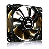 AABCOOLING Super Silent R8 - Un Silencioso y Muy Efectivo Ventilador 80mm con Adaptador de Bajo Ruido, Fan PC, Ventilador 12V Coche, Ventilador de Portatil, 33-25 m3/h, 1600-1200 RPM 8,9 dB (A)