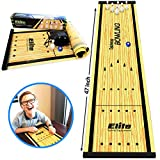 Family Games for Adults & Kids - Bowling Game - Tabletop Game (4' x 1') - Indoor Fun for Whole Family, Home Or Travel - Ages 6 & Up - by Elite Sportz