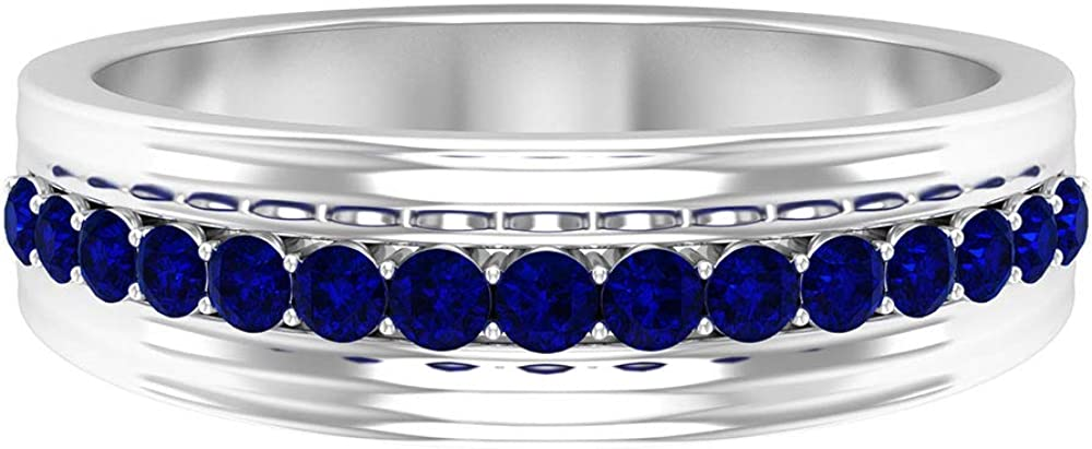 Antique Engagement Rings, Bridal Wedding Ring, 1/2 CT Blue Sapphire Ring, September Birthstone Ring, Stackable Bridal Ring, 14K Solid Gold