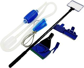 Winning shot 水槽 掃除道具3点セット 水換えポンプ パイプ清掃ブラシ 水槽ガラスクリーナー 【 交換ヘッド5種 】