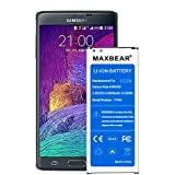 Galaxy Note 4 Battery, (Upgraded) MAXBEAR 3600mAh 3.85V Li-Polymer Replacement Battery for Samsung Galaxy Note 4 N910,N910A(AT&T),N910T(T-Mobile),N910(Verizon),N910P(Sprint) [3 Year Service]