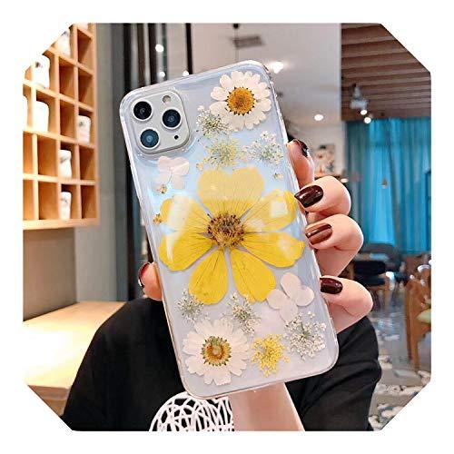 Real essiccato fiori pressati cover del telefono per iPhone 11 Pro Max X XS Max XR 6 6S 7 8 Plus silicone fatto a mano floreale copertura coque