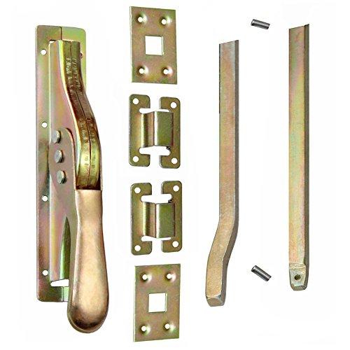 Set Tortreibriegel Torverschluss Türtreibriegel Stangen 2540 mm Vierkant 14 mm Gelb