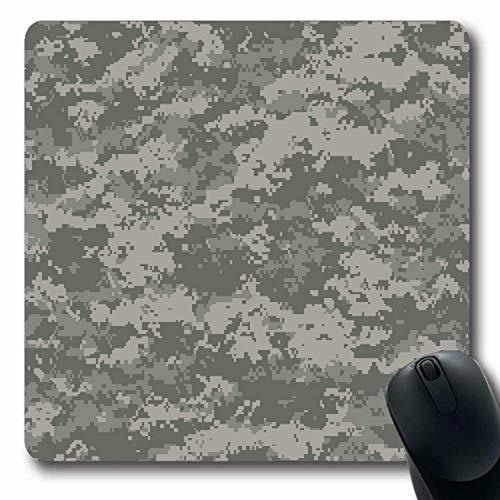 Mausepad Digital Stealth Forest Camouflage Universal Palette Soldat Texturen Fliesen Kräfte Munition Nato Oblong Mousepad 25X30Cm Rutschfeste Gummispiele Office Mausmatte Langlebi