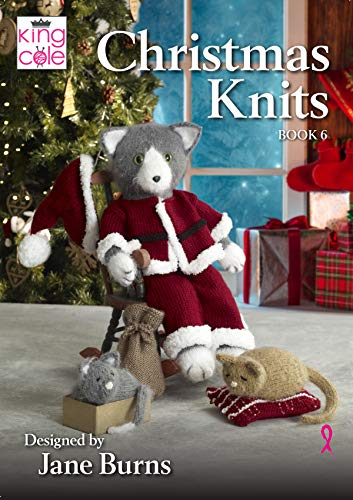 King Cole Christmas Knits Book 6 - Hooded Blanket Doorstop Wreath Toilet Roll Covers & Santa Claws