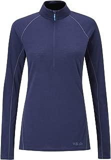RAB Merino+ 120 Long Sleeve Zip Jacket - Womens, Twilight, Small, QBU-27-TW-10