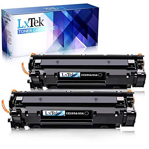 LxTek Compatible Reemplazo para HP CE285A 85A Cartuchos de tóner para HP Laserjet Pro P1102W P1102 M1132 M1217NFW P1100 M1132MFP M1136 M1210 M1212 M1212NF (2 Negro)