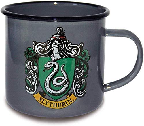 Finoo Harry Potter Kaffeebecher Kaffeetasse Wärmeeffekt Tasse Dobby Geschenk Emaile Gleis Hogwarts Express 9 3/4 Haus Hufflepuff Slytherin Emaile