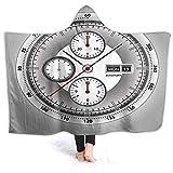 prunushome Hooded Blanket Wrist Watch Watchface Chronograph Tachymeter White Edition Sport Watch Print