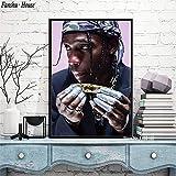 N / A Travis Scott Poster Rapper Music Star Poster e Stampe su Tela Quadro su Tela Immagine per Soggiorno Decorazione Domestica Nuovo40x50cm