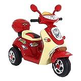 Moto Lambreta Elétrica 6V Vermelha Bel