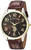 U.S. Polo Assn. Classic Men's USC50225 Watch with Brown Faux-Leather...