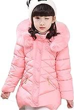 MINGYINIGE Kids Jackets for Girls Coat Hooded Fur Collar Winter Warm Jacket