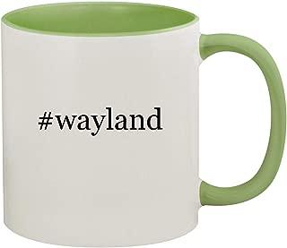 #wayland - 11oz Hashtag Ceramic Colored Inside & Handle Coffee Mug, Light Green