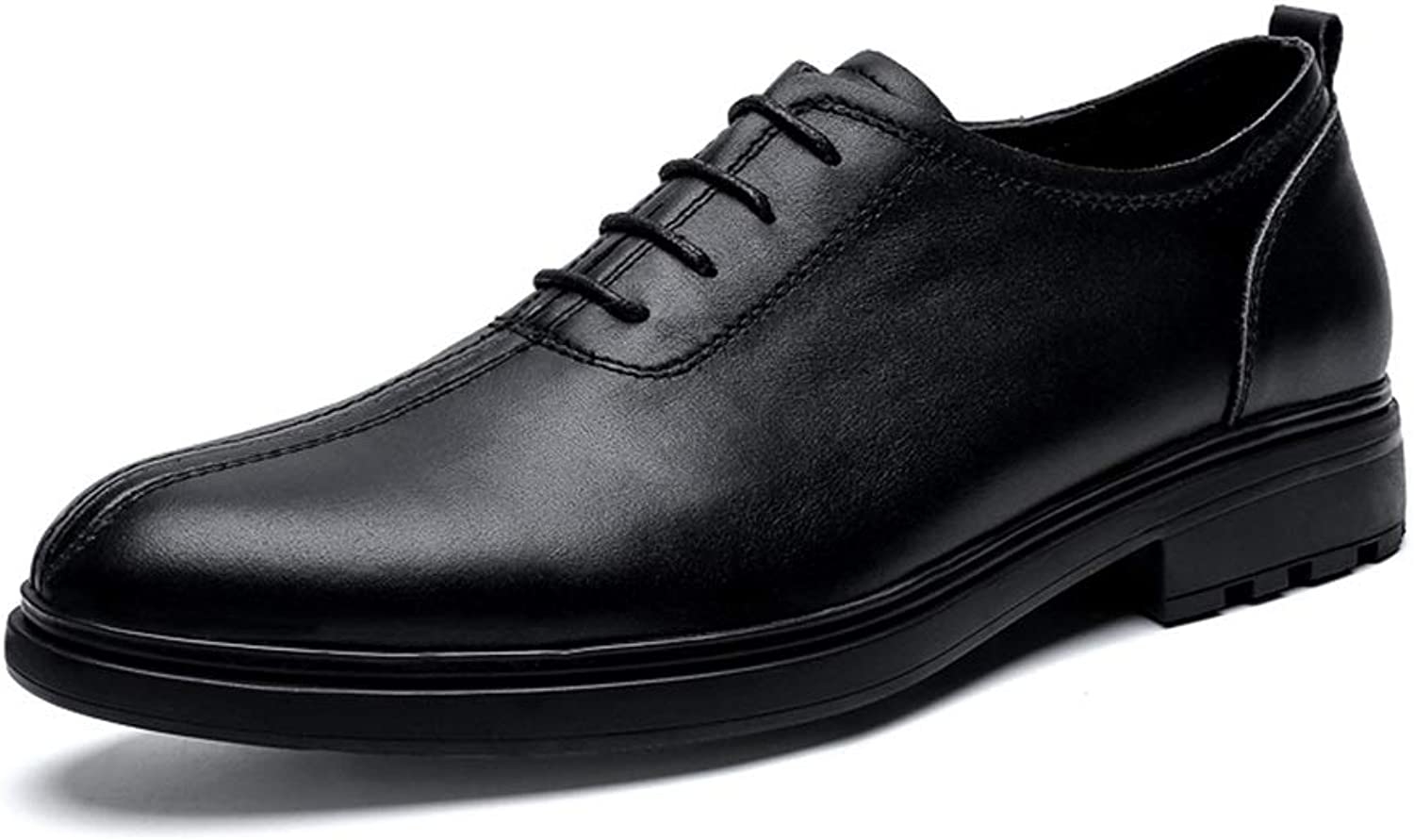 Round Toe Oxford shoes For Men Formal shoes Lace Up Style OX Leather Classic Casual Comfortable British Style 2019 Mens shoes Lace-up (color   Black, Size   8.5 UK)