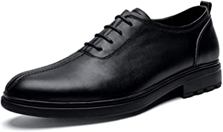 2019 Mens New Lace-up Flats Round Toe Oxford Shoes for Men Formal Shoes Lace Up Style OX Leather Classic Casual Comfortable British Style