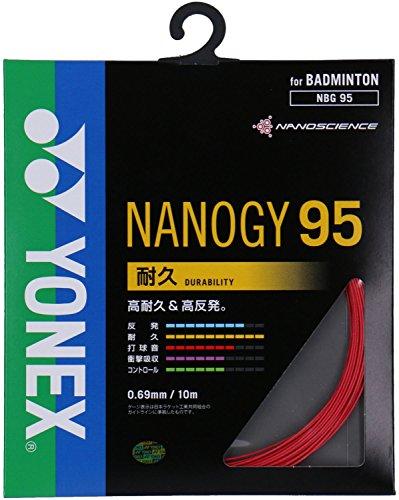 ヨネックス(YONEX) バドミントン ストリングス ナノジー95 (0.69mm) NBG95 レッド