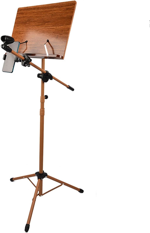 Para Partitura Soporte de Música Extra Alta con Trípode de Metal, Estante y Soporte de Teléfono de Micrófono Ajustable para Eventos en Vivo/Rendimiento en la Calle Atriles