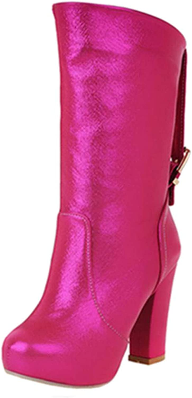 SJJH Women Sexy Mid Calf Boots