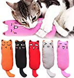 Legendog 5Pcs Catnip Toy, Cat Chew Toy Bite Resistant Catnip Toys for Cats,Catnip Filled Cartoon Mice Cat Teething Chew Toy