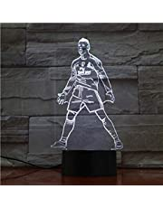 3D nachtlampje nachtlampje slaaplicht voetbalspeler Cristiano Ronaldo figuur USB 3D LED nachtlampje touch sensor 7 kleurverandering tafellamp nachtvoetballampen