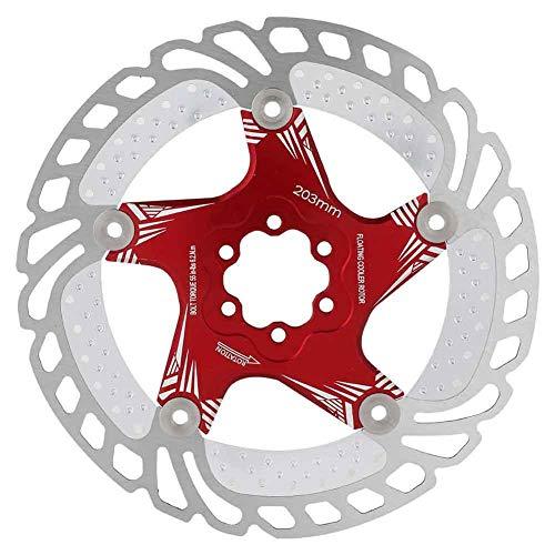 Keenso Bremsscheibenscheibe, Stahl Mountainbike Scheibenbremsen Wärmeableitung mit T25 Schrauben Fahrradzubehör(rot)