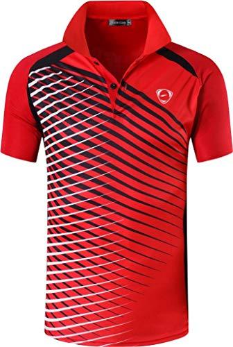 jeansian Camiseta Deportiva de Manga Corta para Hombre Polo Poloshirt tee Shirt Tshirt T-Shirt Bolos Dry Fit Golf Tenis LSL195