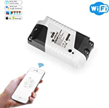 eMylo Smart Mini WiFi Switches, Wireless Relay Mini Remote Control, Compatible with Alexa Google Assistant and IFTTT, timing function, No Hub required, Support IOS Android 1 pack