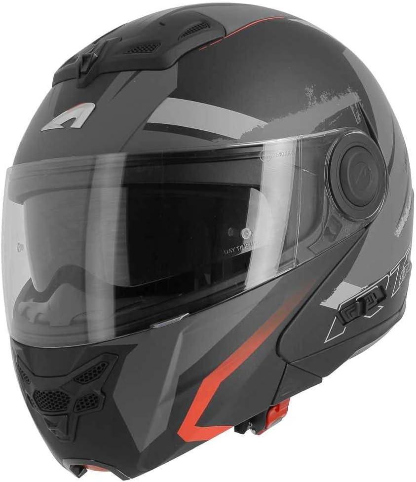 Talla M ASTONE RT800 Energy Casco Modular Color Negro y Rojo