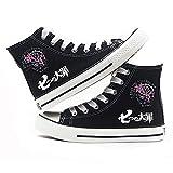 Vngbds Zapatos de Lona The Seven Deadly Sins Zapatos de Anime Zapatillas Altas Zapatillas de Suela de Goma for Estudiantes Casuales con Cordones Zapatos Planos para Estudiantes Adultos