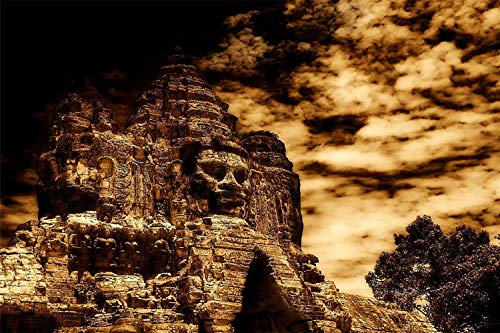 3D DIY Pintura Digital por Numeros Templo Maya De Mexico Arte De Pared Moderno Lienzo Pintura Regalo para Ninos Decoracion del Hogar 30x40cm