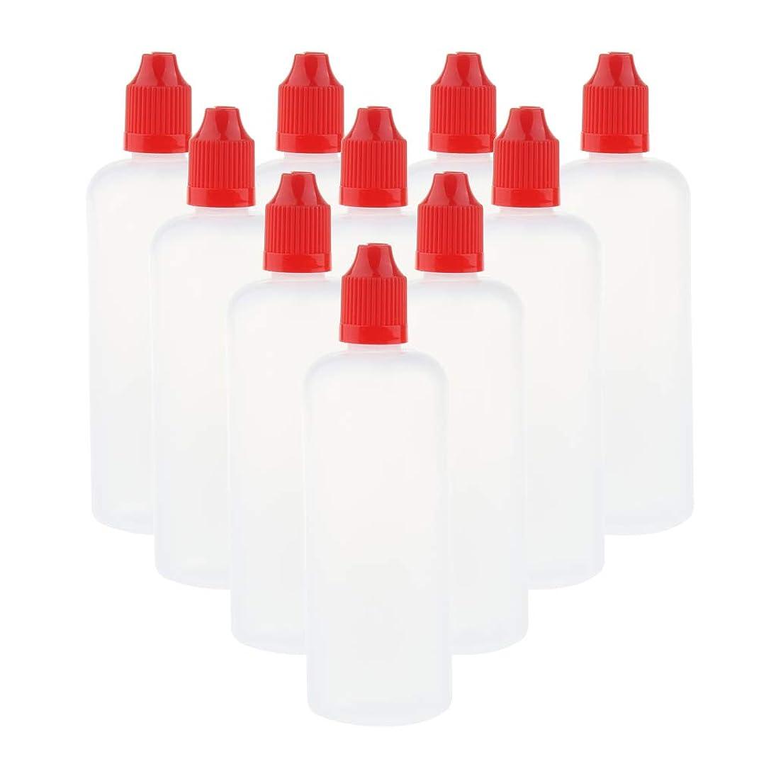 海洞窟手順D DOLITY 10個 空ボトル 点滴器 点眼瓶 液体容器 溶剤ボトル 液体芳香剤 詰替え 120ミリ 全6色 - 赤
