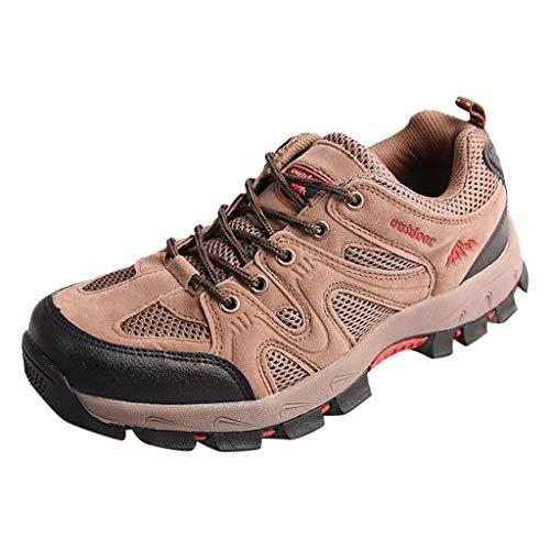 HDUFGJ Herren Outdoor Abenteuer Trekking- & Wanderhalbschuhe rutschfeste Verschleißfest Wanderschuhe Freizeitschuhe Sneaker Wasserdicht Leichtgewicht Faule Schuhe Flache Schuhe 39 EU(Gelb)