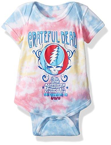 Liquid Blue unisex baby Grateful Dead American Music Hall Onesie T Shirt, Tie/Dye, 0-6 Months US