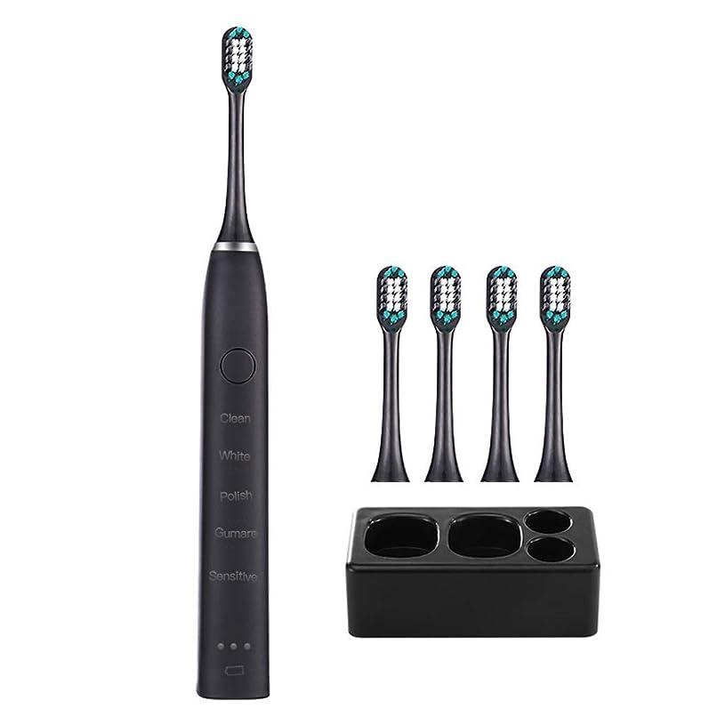 カビ非難するコンサルタント電動歯ブラシワイヤレス大人充電式防水超音波ホワイトニングソフトヘアホームスマート電動歯ブラシ