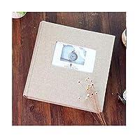 フォトアルバムコットンとリネンオープンウィンドウインサート5/6インチ家族旅行卒業ライフアルバム、メモ執筆エリア (Color : 200 sheets of 6 inch tea ash)