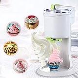 Máquina de helado eléctrico de moda, Máquina de helado de sirviente suave de mini fruta totalmente automática, saludable, libre láctea, simple Operación de empuje, para la cocina DIY para el hogar wmp