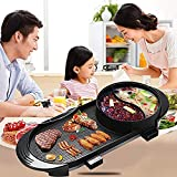 KDMB Parrilla Raclette The Electric Barbecue Hot Pot Maifan Stone Multifunción y Hot Pot Mesa Parrilla y Fondue con Revestimiento Cerámico 1500W