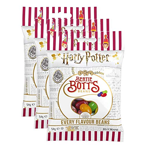 Harry Potter Bertie Bott's Jelly Belly Bohnen 3er Tüten Pack (3 * 54g)