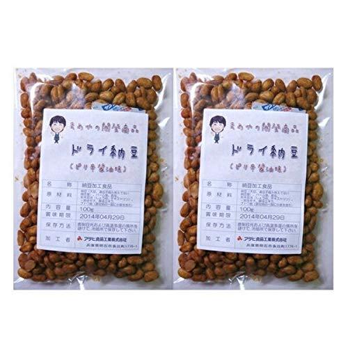 豆力 国内産 ドライ納豆(ピリ辛醤油味) 100g×2袋 ポッキリ!セット