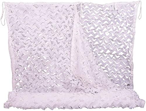 BRFDC Malla de Camuflaje Vela de Sombra 150D Oxford Polyester SHUTING Net Utilizado EN SHUESTING Camping Decoración de Caza Protector Solar, Blanco 619 (Color : Blanco, Talla : 2x20m)