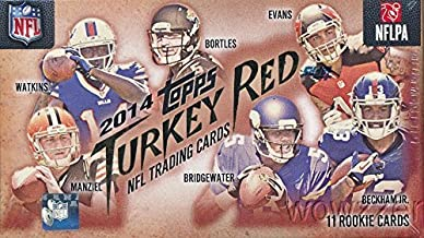 2014 Topps Turkey Red NFL Football Factory Sealed Hobby Box with 11 ROOKIE Cards including HAND SIGNED ROOKIE AUTOGRAPH & MINI PARALLEL Card! Look for Autographs of Odell Beckham Jr, Derek Carr & More