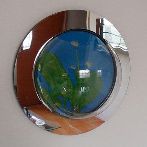 1 Gallon Reflection Fish Bubble Deluxe Mirrored Wall Mounted Aquarium Tank
