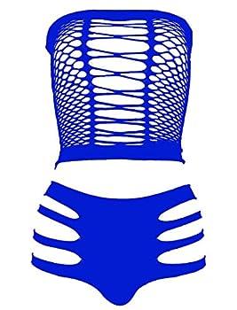 LEMON GIRL Women s Set US4-18 Lingerie Fishnet BabyDoll Bodysuit Mini Dress Blue